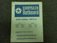 1971 Chrysler Outboard 120 HP Parts Catalog Manual OEM Factory Book 1971 x