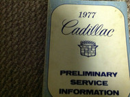 1977 CADILLAC ELDORADO FLEETWOOD DEVILLE SEVILLE Shop Service Repair Manual PREl