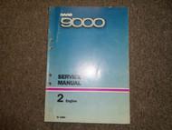 1986 Saab 9000 2 Engine Service Repair Shop Manual FACTORY OEM BOOK 86 DEAL