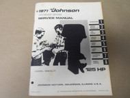 1971 Johnson Outboards Service Manual 125 HP 125ESL71 OEM Boat
