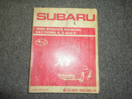 1989 Subaru XT Section 4 5 6 Service Repair Shop Manual FACTORY OEM BOOK 89 DEAL