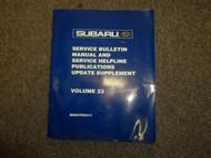 2002 Subaru Service Bulletin Service Repair Shop Manual FACTORY WATER DAMAGE 02