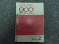 1979 1980 Saab 900 Engine 2 Service Repair Shop Manual FACTORY OEM BOOK 79 80