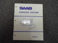 1970s 80s Saab 900 900S Turbo Emissions System Shop Manual FACTORY OEM DEAL