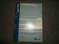 1994 95 96 971998 Saab 900 8:1 Body Body Repairs Service Shop Manual FACTORY OEM