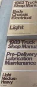 1983 Ford F-150 F100 250 350 Bronco Truck Service Shop Repair Manual Set 2 BOOKS