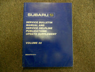 2001 Subaru Service Bulletin Service Repair Shop Manual FACTORY WATER DAMAGED