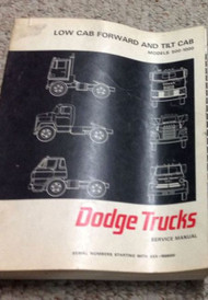 1967 DODGE TRUCK Low Cab Forward & Tilt Cab Models 500 1000 Service Shop Manual