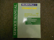 2003 Subaru Forester Mechanism & Function Section 2 Service Repair Manual OEM 03