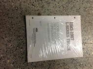 1983 85 1987 Ford L SERIES L-SERIES TRUCK Service Shop Repair Manual SUPPLEMENT