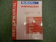 2003 Subaru Impreza Chassis Section 5 Service Manual WATER DAMAGE FACTORY OEM 03