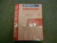 2003 Subaru Impreza Transmission Section 4 Service Manual WATER DAMAGED WORN 03