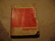 1966 Dodge Low Cab Forward Tilt 500-1000 Truck Service Shop Repair Manual OEM