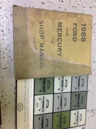 1968 Ford & Mercury Car Service Shop Repair Manual SET W INTRODUCTION BOOK RARE