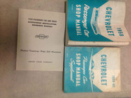 1958 CHEVY CHEVROLET CAR Service Shop Repair Manual SET W SUPPLEMENT & INSTAL BK