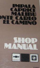 1983 CHEVY MALIBU IMPALA MONTE CARLO EL CAMINO CAPRICE Service Repair Manual OEM
