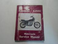 1981 1982 Kawasaki KZ650 Motorcycle Service Manual WATER DAMAGED FACTORY OEM