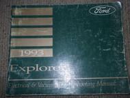 1993 Ford Explorer Electrical Wiring Diagrams Service Shop Repair Manual EVTM 93