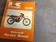 1977 1978 1979 1980 KAWASAKI KL250 KL 250 Service Shop Manual FIRST EDI OEM X