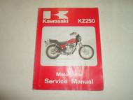 1980 KAWASAKI KZ250 KZ 250 MOTORCYCLE Service Repair Shop Manual WATER DAMAGED