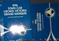 1996 FORD CROWN VICTORIA MERCURY GRAND MARQUIS Service Shop Manual Set W EWD