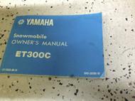 1978 YAMAHA ET300C ET 300C OWNERS Shop Service Repair Manual OEM FACTORY 78