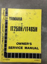 1981 YAMAHA IT250H IT465H OWNERS Shop Service Repair Manual FACTORY OEM BOOK
