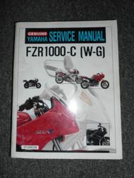 Yamaha Motorcycle FZR1000-C (W-G) Service Shop Repair Manual OEM FACTORY X