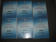 2008 JEEP COMMANDER Service Repair Shop Manual Set OEM DEALERSHIP 08 BOOKS