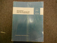 1968 69 70 71 72 1973 Passenger Cars Series 114 115 Body Chassis Service Manual