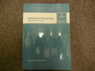 1972 1980 MERCEDES BENZ Maintenance Manual USA Passenger Cars Volume 1 OEM DEAL