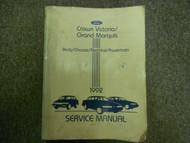 1992 Ford Crown Victoria Grand Marquis Service Repair Shop Manual DAMAGED OEM 92
