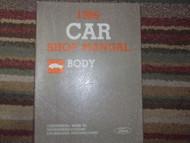 1986 Lincoln Mark VII Service Shop Repair Body Manual