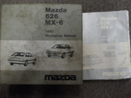1990 MAZDA 626 MX-6 Service Repair Shop Manual SET MISSING FIRST FEW PAGES 90