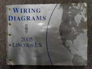 2005 Lincoln LS Electrical Wiring Diagram Manual FACTORY OEM BOOK WATER DAMAGE