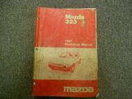 1987 Mazda 323 Service Repair Shop Manual WATER DAMAGE FACTORY OEM BOOK 87