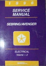 1996 Chrysler Sebring & Dodge Avenger ELECTRICAL Service Shop Repair Manual V 2