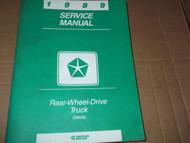 1989 Dodge Dakota TRUCK Service Repair Shop Manual OEM DEALERSHIP 89 BOOK