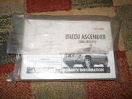 2006 ISUZU ASCENDER Owners Manual OEM FACTORY BOOK ISUZU MOTORS 2006 X NICE