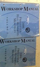 2006 FORD FREESTYLE FIVE HUNDRED 500 MONTEGO Service Shop Manual 2 VOLUME SET