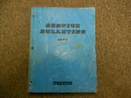 1990 MAZDA ALL MODELS Service Bulletins Shop Manual FACTORY OEM BOOK 90