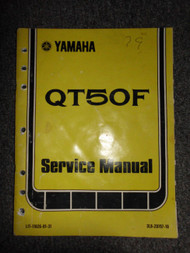 1979 Yamaha QT50F QT 50F QT 50 F Service Repair Shop Manual OEM FACTORY 79 X