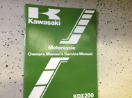 1983 Kawasaki KDX200 A1 Service Repair Shop Owners Manual OEM MINOR WEAR FACTORY