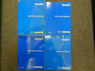 2004 Mazda 3 MAZDA3 THREE Service Repair Shop Manual FACTORY OEM 4 VOLUME SET 04
