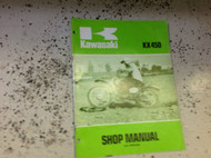 1974 1975 Kawasaki KX450 KX 450 MOTORCYCLE Service Repair Shop Manual OEM BOOK