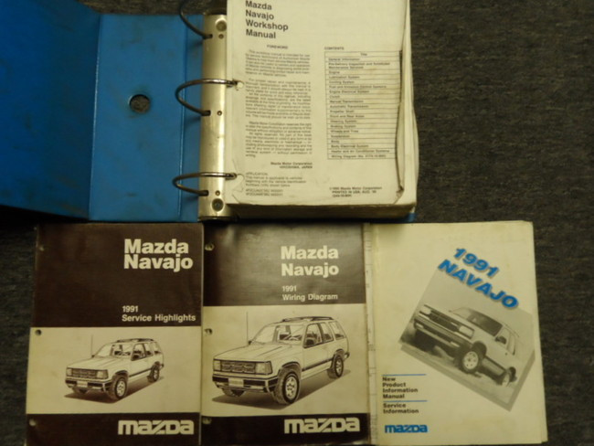 1991 Mazda Navajo Service Shop Repair Manual Huge Set Oem