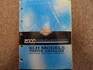 2000 Harley Davidson XLH Models Parts Catalog Manual FACTORY OEM BOOK USED x