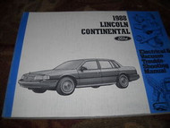 1988 Lincoln Continental Electrical Wiring Service Shop Manual