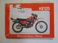 1980 Kawasaki KE125 Motorcycle Owner's Manual KAWASAKI KE125-A7 WATER DAMAGED