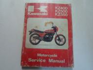 1979 1982 Kawasaki KZ400 KZ500 KZ550 Service Manual WATER DAMAGED WORN OEM DEAL